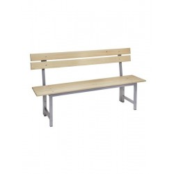 Panche in metallo e legno con schienale